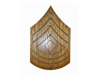 MARINE 1stSgt E8 RANK Plaque First Sergeant Carved Wall Sign u.s. Military usmc Promotion Retirement