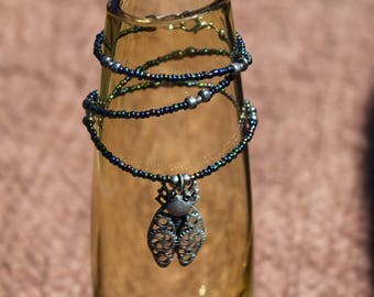 Necklace - Steampunk Beetle, Silver