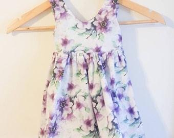 Purple floral Teaparty Dress