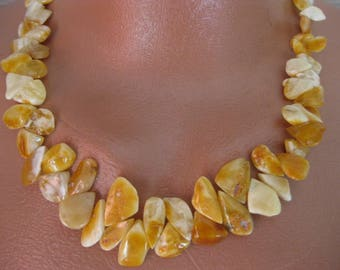 "Amber necklace ""Amber track"" - natural royal amber."