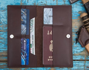 """leather wallet """"Travel"""""""