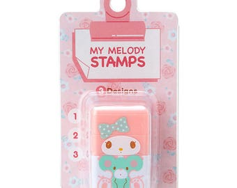 My Melody Concatenation stamp 3 design SANRIO from Japan kawaii Craft label tag