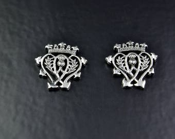 Sterling Silver Studs with Luckenbooth Design