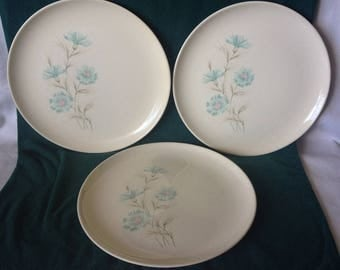 Taylor Smith & Taylor....Ever Yours....BOUTONNIERE....3 Dinner Plates