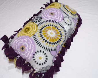 Purple Flower Decorative Throw Pillow