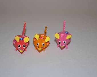 Set of 3 mice alebrijes