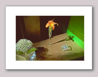Photo Note Card, Daylily Still Life