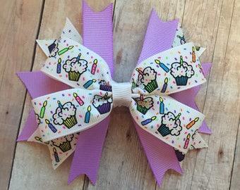 Happy Birthday Bow, Birthday Girl Accessories