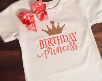 Birthday Shirt, Girl Birthday, Bow