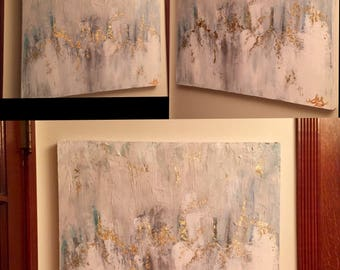 Customized gold leaf painting