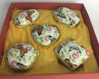 Collection or porcelain trinket boxes