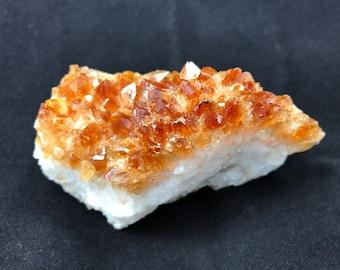 Citrine Druzy Cluster Moderate orange Crystal - 1046