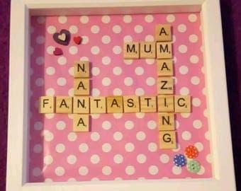 Personalised Scrabble tile frame