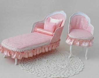 Sofa, doll furniture, sofa for dolls,  dollhouse furniture, miniature sofa, couch for dolls, handmade furniture, furniture for doll,
