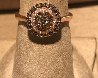 14 Kt Rose Gold Chocolate Diamond Rings