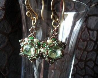 Swarovski Crystal Peridot Green Earrings