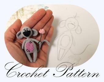 Amigurumi Mouse, Mouse Pattern, Amigurumi Tutorial, Crochet Doll, Crochet PATTERN (English Only)