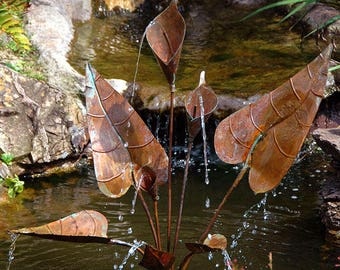 Hand made copper Arum lily