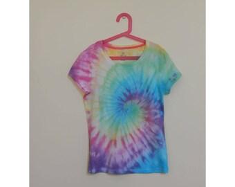 Tie Dye Girl's T-Shirt - Size 14