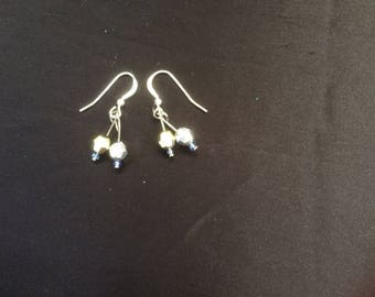 Earrings with sterling silver hooks