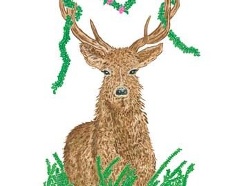 Ltd Edition - A5,A4 & A3 Giclee Print - Original Artwork - Deer
