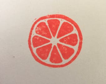 Citrus Fruit Design Custom Handmade Rubber Stamp | Lime Lemon Orange Grapefruit | Wedding | Cardmaking | Scrapbooking | Papercraft