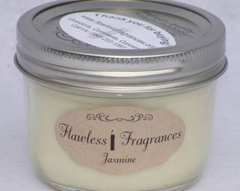 Jasmine Soy Wax Candle Wooden Wick