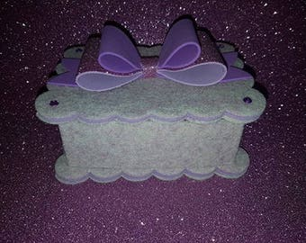 Jewellery boxes made of felt and fommy