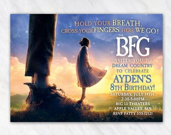 The BFG Invitation for Birthday Party - Printable Digital File