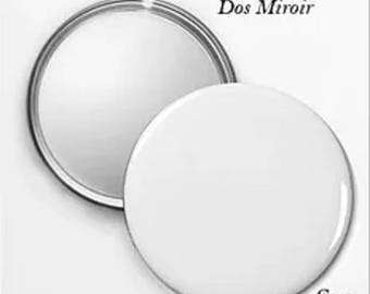 50 Pocket mirrors: 5.6 Cmo customizable with text and photo.