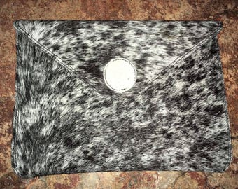 Handcrafted leather clutch