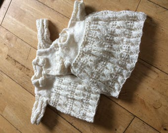 "Hand knitted clothes for 16"" doll"
