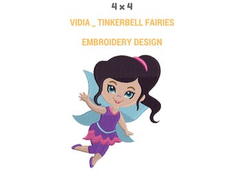 Vidia Tinkerbell Embroidery Design | Machine Embroidery Design | Tinkerbell Full Filled Embroidery Design | Tinkerbell Fairy Embroidery