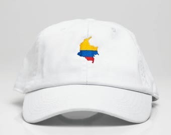 White Colombia Dad Hat