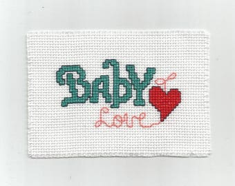Baby Love - Digital pattern - Instant download -Point of croix - Punto cruz - Embroidery pattern - Cross Stitch pattern PDFs