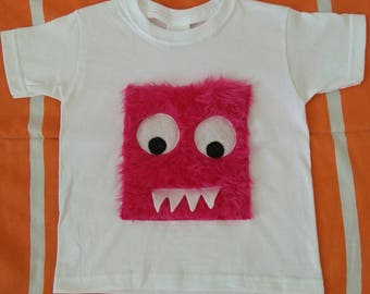 T-shirt pink monster