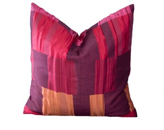 Cushion cover/pillowcase 50 x 50 cm, red patterned