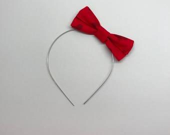 I Heart Mickey Wire Bow Headband