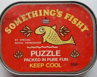 Vintage Hasbro 1971 Something's Fishy Puzzle