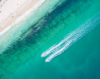 Wall Art | Aerial Photography | Print | Beach | Seascape | Swanbourne Beach | Western Australia | Jetski