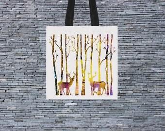 Forest Bag - Art Tote Bag - Art Market Bag - Fashion Tote