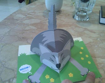 Birthday Cat 3D Card