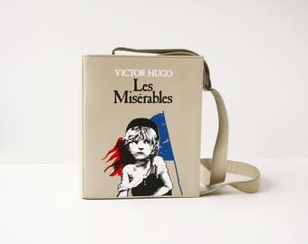 Les Miserables Leather Book Bag Victor Hugo Book Purse