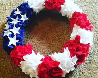 4th of July/ Memorial Day felt wreath
