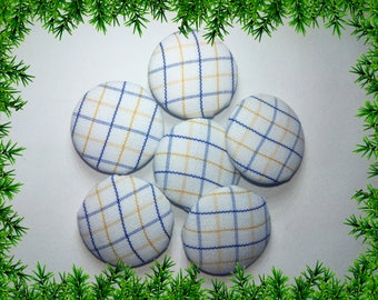 Fabric Buttons/Checks Button/Cloth Buttons/Fabric Sewing Buttons/Decorative Buttons/Garment Buttons/Handmade Buttons