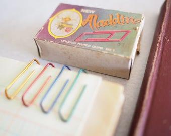 Aladdin No.1 _A Vintage colour paper clips