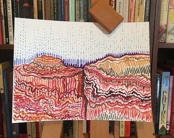 Grand Canyon Watercolor