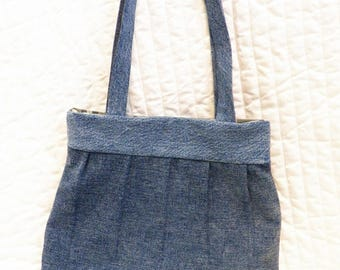 Recycled denim purse