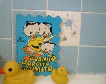 "vintage Huey, Dewey and Louie Disney book in Spanish: ""Juanito, Jorgito y Jaimito"""