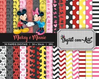 Mickey and Minnie Digital Paper